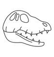 dinosaur skull head icon outline style vector image