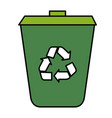 ecology recycle bin isolated icon vector image vector image