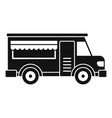 fast food truck icon simple style vector image vector image