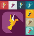 flat modern design with shadow icons dove vector image vector image