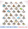 Game Set 05 Building Isometric vector image vector image