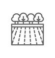 garden landscape line icon vector image vector image