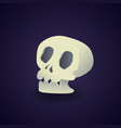 gradient element skeleton face for halloween vector image