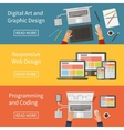 Graphic and Web design programming digital art vector image vector image