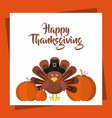 happy thanksgiving celebration poster vector image vector image
