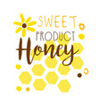 honey sweet product logo colorful hand drawn vector image vector image