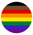 lgbt flag round shape icon on white background vector image