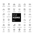 line icons set school vector image vector image