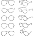 line of sunglasses frames vector image