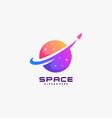 logo space galaxy gradient colorful vector image