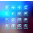 Medical Flat Glass Icons on Blur Background vector image vector image