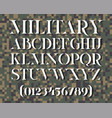 military stencil typeface vector image