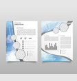 modern triangle presentation template business vector image vector image
