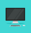 monitor keyboard and mouse vector image vector image