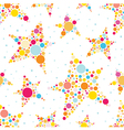 Multicolored stars dotted seamless pattern vector image vector image