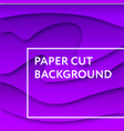 paper cut background abstract color gradient 3d vector image