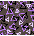 pattern with triangles vector image