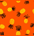 pineapple seamless pattern background with summer vector image vector image