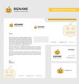 pumpkin business letterhead envelope and visiting vector image vector image