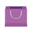 purple paper bag gift present package empty vector image vector image