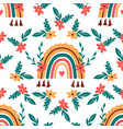 rainbow pattern abstract boho vector image