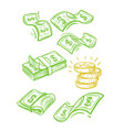 Raining money seamless pattern