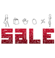 Red Sign Sales vector image vector image