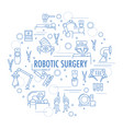 robotic surgery banner vector image