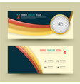 set of banner templates vector image vector image