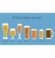 Set of beer glassware Cool minimal flat vector image vector image