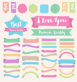 Set of painted brush style banner vector image