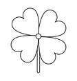 shamrock or clover leaf saint patricks day related vector image vector image
