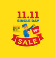 single day sale with one human hand hold vector image