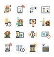 Smart House Technology System Icons vector image vector image