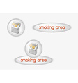 smoking area buttons vector image vector image