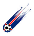 soccer ball with the flag of iceland vector image vector image