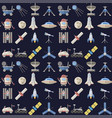 stylish space ship seamless pattern background vector image vector image
