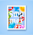 summer cover design elements vector image vector image