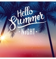 Summer night dance party Beach summer night party vector image vector image