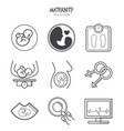 variety maternity icons set vector image vector image