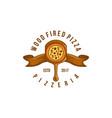 vintage wood fired pizza logo designs inspiration vector image vector image
