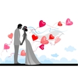 Wedding with festive balloons vector image