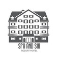 winter ski and spa resort hotel logo vector image vector image