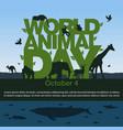world animal day image