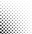 Abstract monochrome dot pattern background vector image