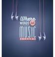 Music Speaks vector image