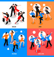 dance isometric people concept vector image