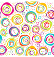 Seamless pattern with circles and dots on white vector image