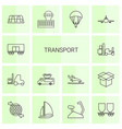 14 transport icons vector image vector image