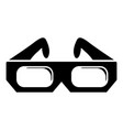 3d glasses icon simple black style vector image